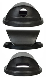 Black Hood Top Recycling Trash Can Lid for 55 Gallon Drums