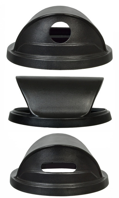 Black Hood Top Recycling Trash Can Lid