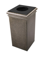 30 Gallon StoneTec Concrete Fiberglass Decorative Trash Can Aspen