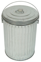 Witt Medium Duty 10 Gallon Galvanized Garbage Pail with Optional Lid