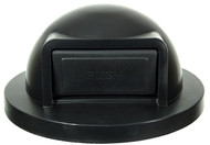 Black Push Door Plastic Lid for 55 Gallon Trash Cans