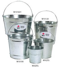 2 - 16 Quart Witt Industries Galvanized Utility Pail W2QTG (Case of 12)