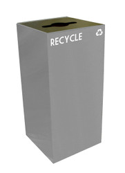 Witt Industries Metal 32 Gallon Geocube 32GC0 Recycling Receptacle for Recyclables
