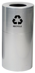 24 or 35 Gallon Aluminum Recycling Trash Container Open Top AL-CLR-R (2 Sizes)