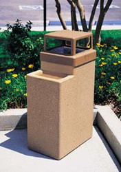 10 Gallon Concrete Ash Trash Outdoor Waste Container TF2070