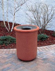 25 Gallon Concrete Funnel Top Outdoor Waste Container TF1105