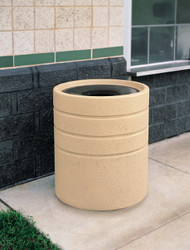 31 Gallon Concrete Funnel Top Outdoor Waste Container TF1224