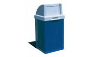 38 Gallon Metal Armor Push Door Lid Outdoor Waste Container MF3052