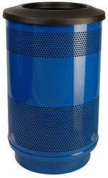 Stadium Series 55 Gallon Painted Stainless Steel Trash Container Flat Top