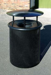 30 Gallon Metal Armor Covered Outdoor Waste Container MF3002