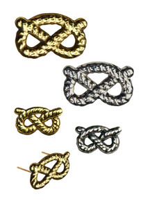 Staffordshire Knot Brass Rein Tips