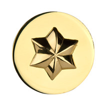 Fancy Centre Rosette #23, Brass