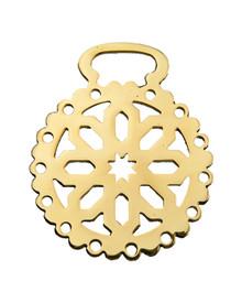 Horse Brass: Snowflake design