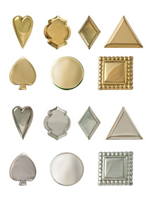 Geometric design rein tips