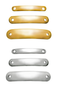 Dog Collar Plates, Brass & Nickel Silver