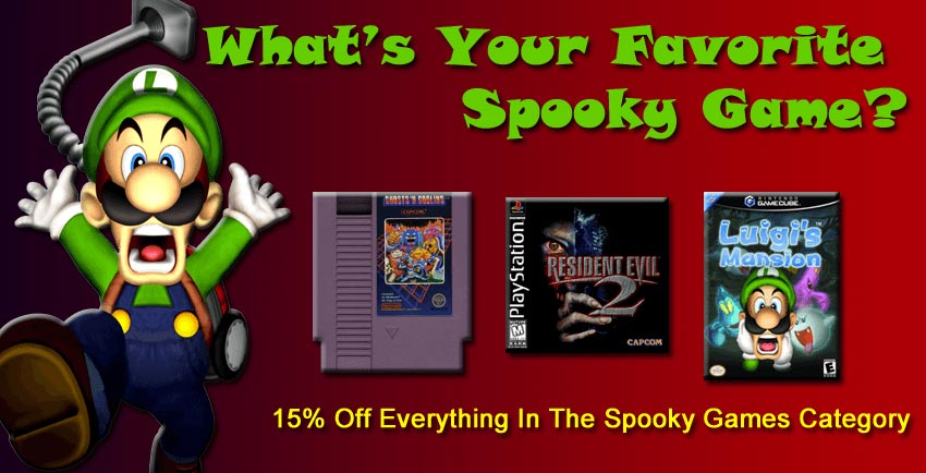 Scary Retro Video Games for Spooky Halloween