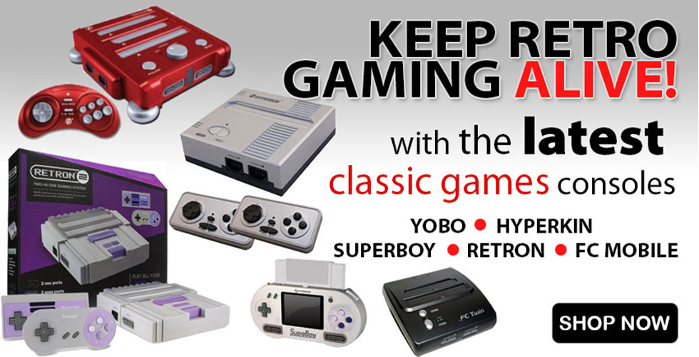 Brand New Retro Game Consoles On Sale!