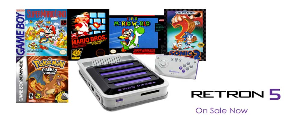 Retron 5 new game system that plays all your old retro Nintendo video games.