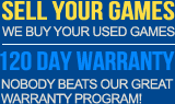 Sell Your Games - 120 Day Warranty