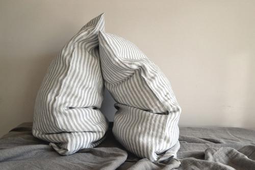 Striped Linen pillow case