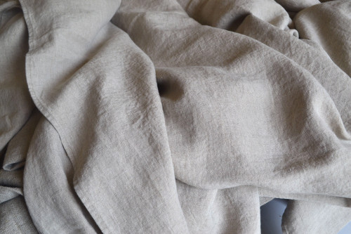 Fitted linen sheet, Natural flax colour (undyed)