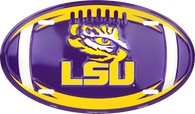 Louisiana State University LSU Tigers Embossed Metal Oval License Plate