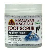 Himalayan Black Salt with Seaweed Foot Scrub 6oz / 170gr
