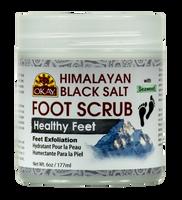 Himalayan Black Salt with Seaweed Foot Scrub 6oz / 170gr