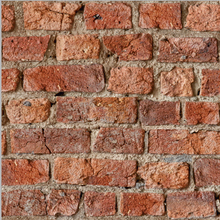 Red Brick Effect Wallpaper by Arthouse