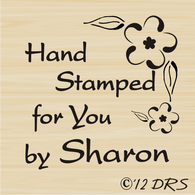 Flower Corner Custom Hand Stamped by Stamp