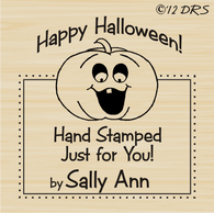 Pumpkin Custom Hand Stamped by Stamp