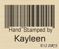 Barcode Custom Hand Stamped by Stamp