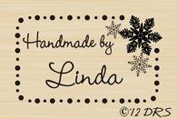 Snowflake Custom Hand Stamped by Stamp