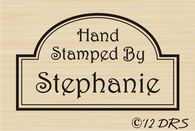 Arch Frame Custom Hand Stamped by Stamp