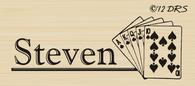 Playing Cards Custom Name Stamp