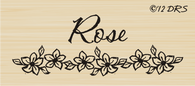 Flower Bar Custom Name Stamp