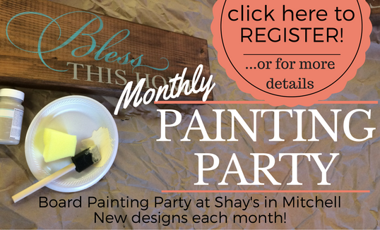 Details for Monthly Painting Party at Shay's in Mitchell