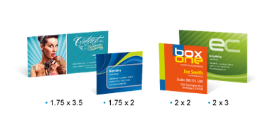 Business cards mini sizes signrex mini business cards come in a nifty 2 x 2 and also a 35 reheart Image collections