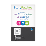 "Every Quilt has a story, Story Patches sew-on version, allows you to attach audio, photos & videos to your crafts.  3.25"" by 3.25"""