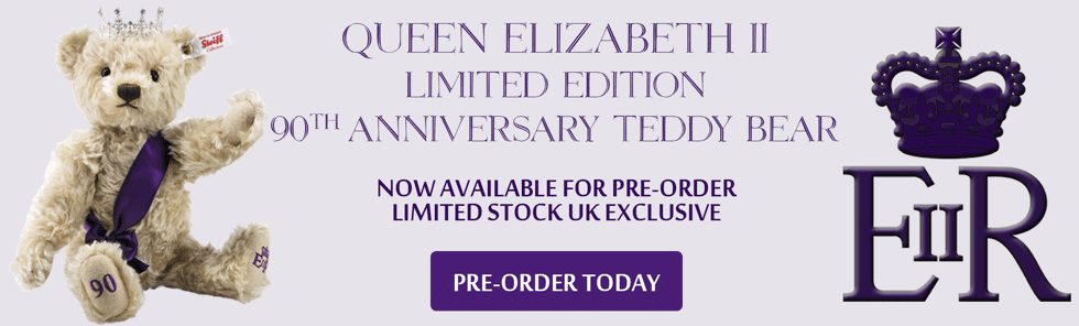 Queen Elizabeth II 90th Birthday Commemorative Steiff Teddy Bear