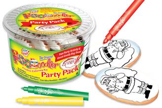 Santa Cookie Coloring Party Pack