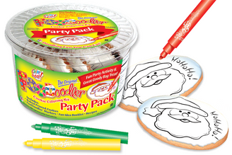 Ho Ho Ho! Cookie Coloring Party Pack