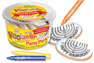 Menorah Cookie Coloring Party Pack