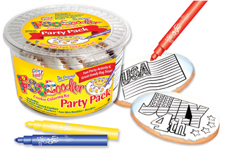 4th of July & Flag Cookie Coloring Pack