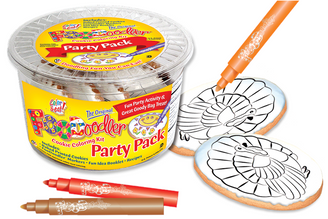 Turkey Cookie Coloring Party Pack