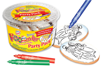 Pilgrims Cookie Coloring Party Pack