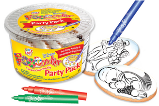 Pilgrims & Harvest Cookie Coloring Party Pack