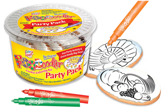 Turkey & Harvest Cookie Coloring Pack