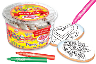 Roses & Hearts Cookie Coloring Party Pack