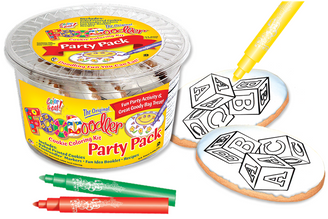 Blocks Cookie Coloring Party Pack